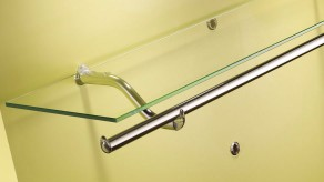 Brackets for shelf and clothes rail