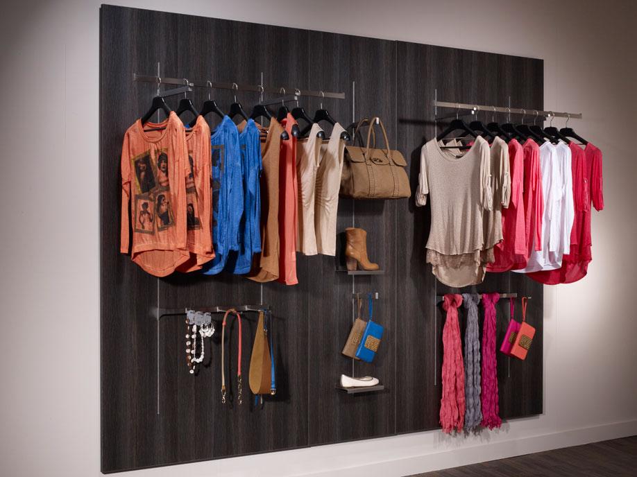 aluminium Slot channel Shops (fashion, clothing). Shopfitting