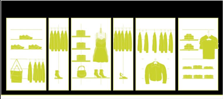 Agencement Magasin, Boutique - Vêtement, Prêt à porter