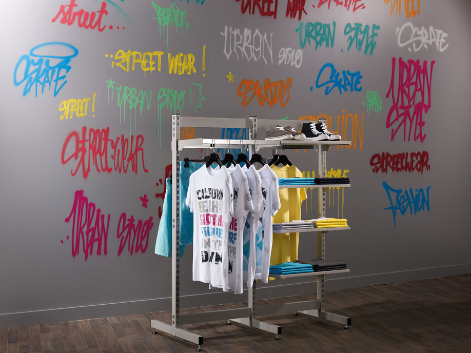 Habillage mural portant professionnel magasin boutique - Portant vetement professionnel occasion ...