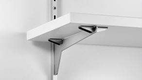 Horizontal shelf bracket