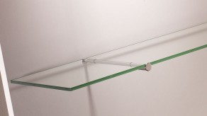 Bracket for glass shelf