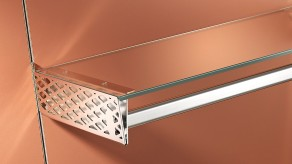 Perforated bracket for glass combination - Nickel