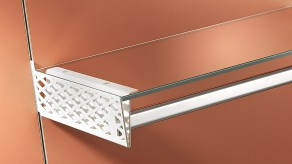 Perforated bracket for glass combination - White