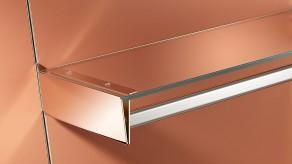 Bracket for clothes rail / glass shelf combination