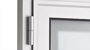 Paumelle pour porte cadre aluminium