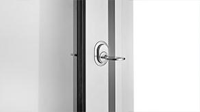 Lock on aluminium frame