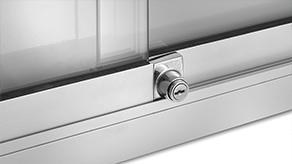 Lock on glass rail