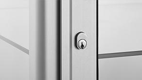 Aluminium frame lock